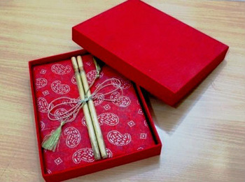 Bamboo Handmade paper Notebook with Gift Box