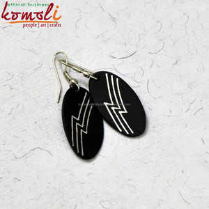 Handmade silver engraved jewellery earrings antique reproduction jewelry handmade jewelry