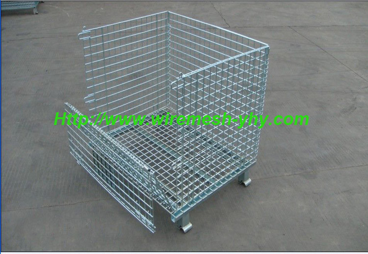 High quality galvanized steel welded wire mesh container