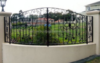 garden decorative fence gate post