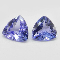 High Quality 5mm Natural Tanzanite Trillion Cut 0.40Cts Semi Precious Gemstone for Jewellery IG4546