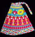 INDIAN COTTON HAND BLOCK PRINT WRAP AROUND SARONG SKIRT India Bollywood Fashion