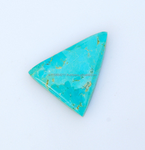 25X30 mm 100% Natural Mohave Turquoise Triangle Shape Loose Gemstone