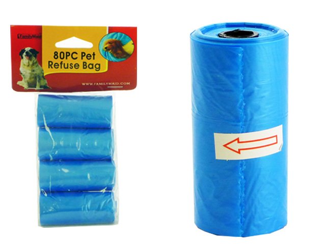 DOG POOP BAGS 4PC REFILLS BLUE, #19193