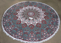 Yoga Mat Circle Roundie Mandala Tapestry Wall Hanging Throw Picnic Blanket