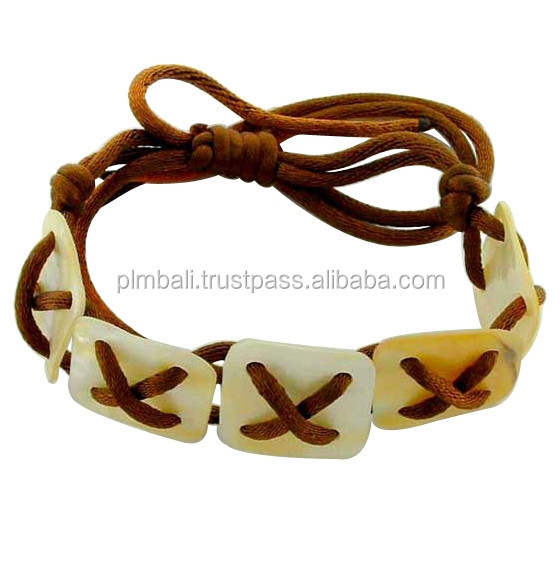 NB248- Silk bracelet with MOP