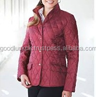 wholesale quilted jackets - Hot Selling Quilted Silk Bomber Jacket Woman