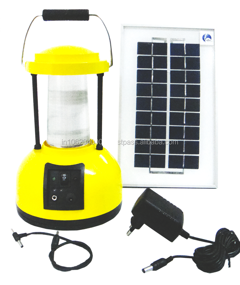 3W-WHITE LED BASED SOLAR LANTERN WITH MOBILE CHARGING PIN,AC ADAPTER, 3 WATT SOLAR PANEL