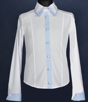 Double collar shirt for girls EWAX Poland