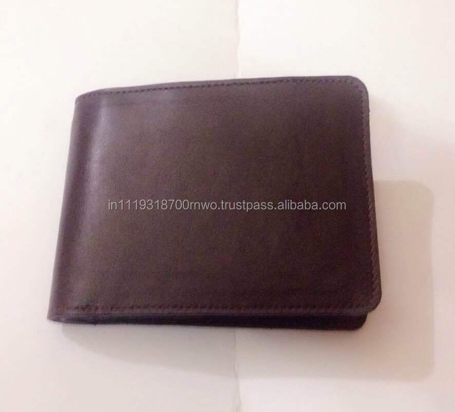 Creative personality good quality Full grain genuine leather wallet for men from Italy