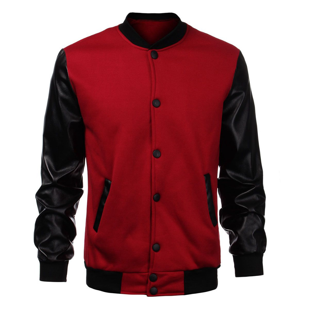 Top Quality Fashion Mens Custom Baseball Plain Varsity Jackets Wholesale/Custom design varsity jackets