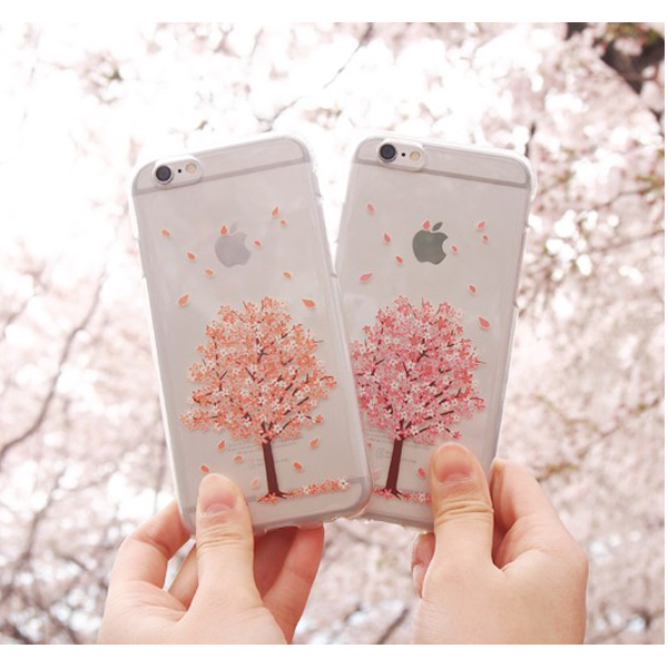 10266 For Galaxy S6 S5 S4 Note5 Note4 Note3 Cute TryCozy Cherry Blossom TPU Jelly Smart Cellular Mobile Phone Case Cover Casing