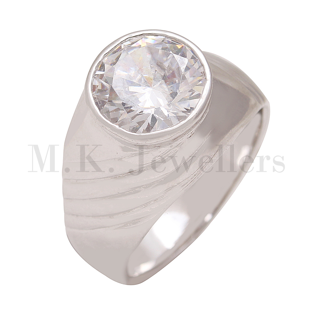 Stylish 925 sterling silver fashionable American Diamond ring for girls
