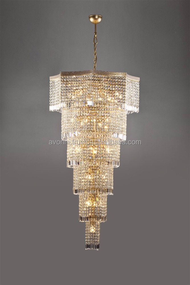 AVONNI Large Octagon Crystal Chandelier