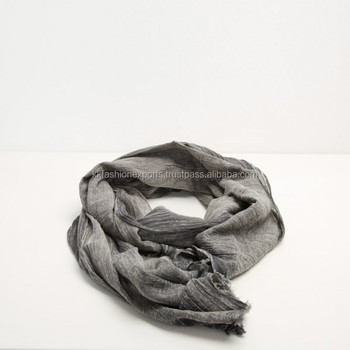 Cotton stone wash stole scarf
