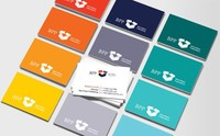 High quality embossed business cards& Elegant business cards/name cards/calling cards printing with colored edges