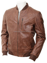 Branded high quality mens leather jacket famous top sale real leather jacket for men
