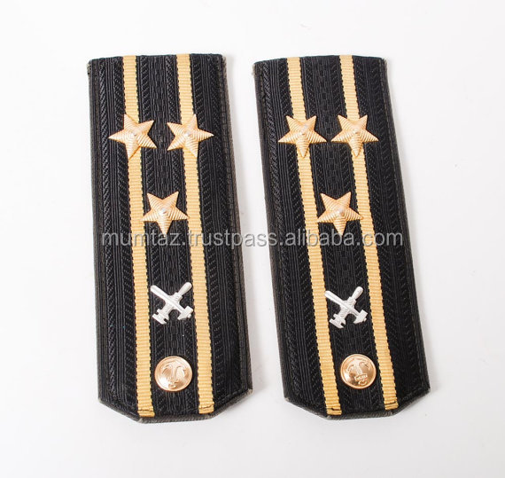 Custom Military Epaulettes Navy Shoulder Badge
