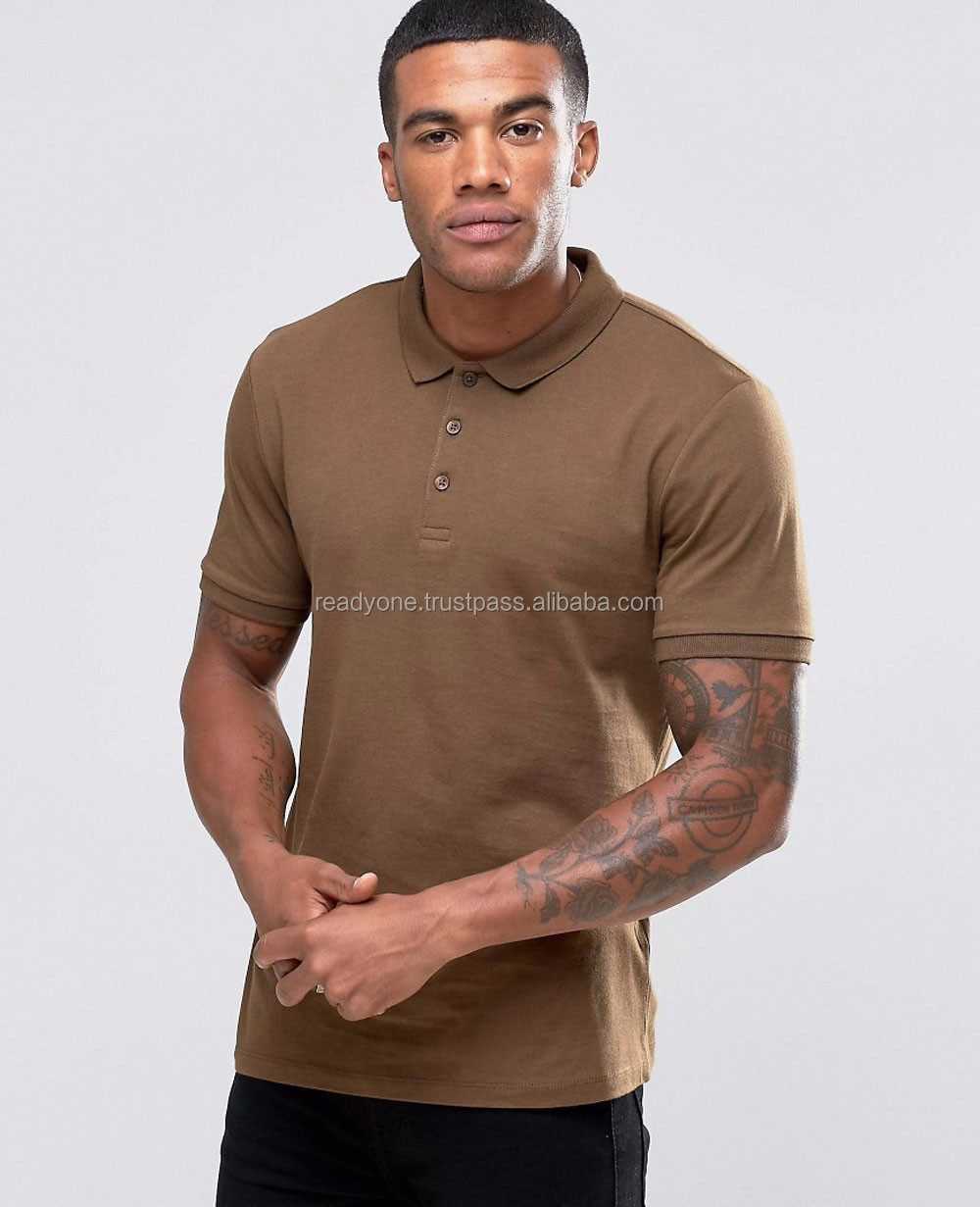 100% Cotton Polo Men 's Bamboo Clothing T -Shirt For Wholesale