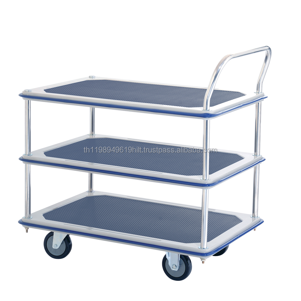 HL-130S Three-Tier Single Handle Steel Platform Hand Truck (Max Load : 220 KG)