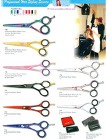 2015 new style Barber hair cutting thinning scissors/Razor Edge Multi Color
