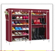 6-layer simple design non woven fabric single row shoe rack
