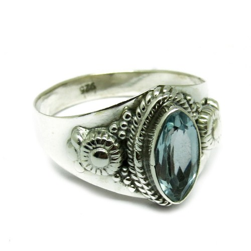 Stunning Marquise Blue Topaz 925 Sterling Silver Wholesale Ring, Wholesale Gemstone Ring Silver Jewelry, Gemstone Silver Jewelry
