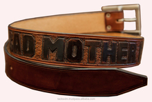 HIGH QUALITY LEATHER hand tooled belt for men