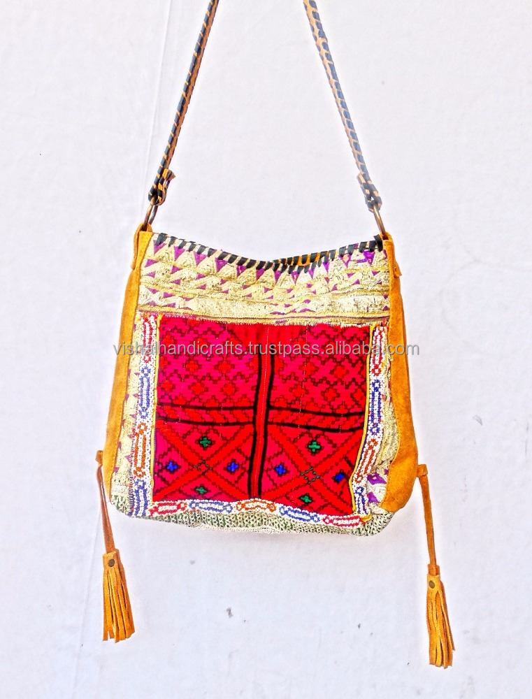 IBIZA GYPSY BANJARA WOMEN'S LEATHER SHOULDER BAG VINTAGE PATCHWORK CROSS BODY BAG WHOLESALE OFFER NEW YEAR 2016