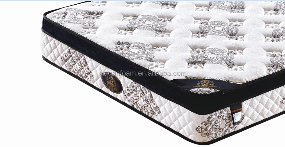 Pillow top foam encased pocket coil spring mattress from direct factory