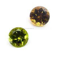 Color Change Alexite Autumn Color 8mm Round Cut 2.4 Cts Man Made Gemstone IG4332