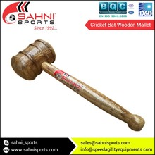 High Stroke Cricket Bat Wooden Mallet with Polished Finish