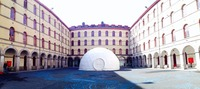 mobile geodesic dome with video and sound system
