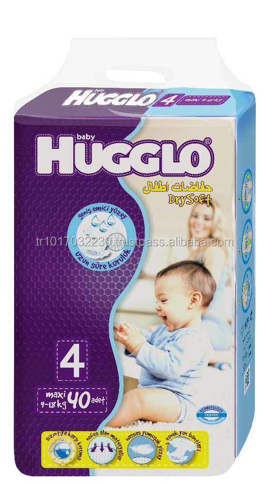 Baby Cloth Hugglo Diapers from Turkish Manufactory