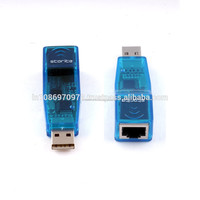 Wholesale Storite USB 2.0 to LAN Adapter/USB 2.0 Ethernet 10/100 Network LAN RJ45 Adapters - Blue