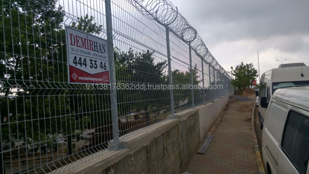 HIGH SECURITY PANEL FENCE CONCERTINA RAZOR WIRE