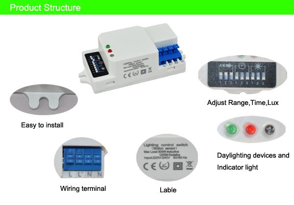 led light sensor switch micro motion sensor sk607 hf microwave led light sensor switch micro motion sensor sk607 hf microwave motion sensor for light
