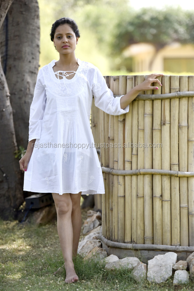 women's clothing - latest designer white girl's gown one piece long tunic