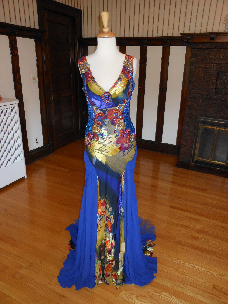 Royal Blue Pageant Evening Dress