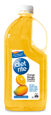 Diet Rite Orange Mango Cordial