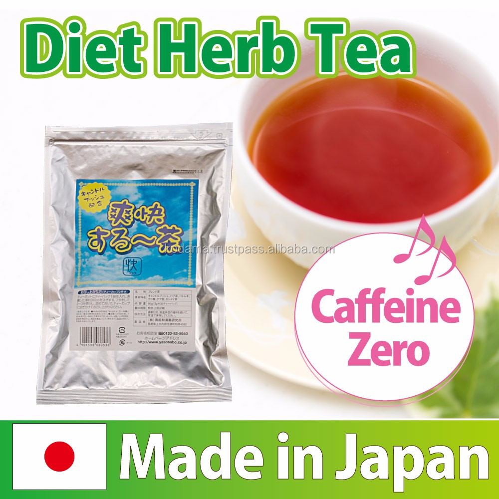 Decaffeinated and High quality senna leaf extract Diet herb tea made in Japan