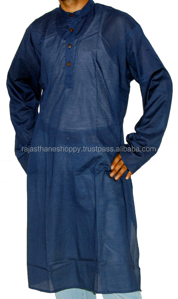 Party Purpose Men's Jeans Wear Long Cotton Kurta