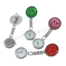mixed colors Smiling Face Zinc Alloy Nurse Watch