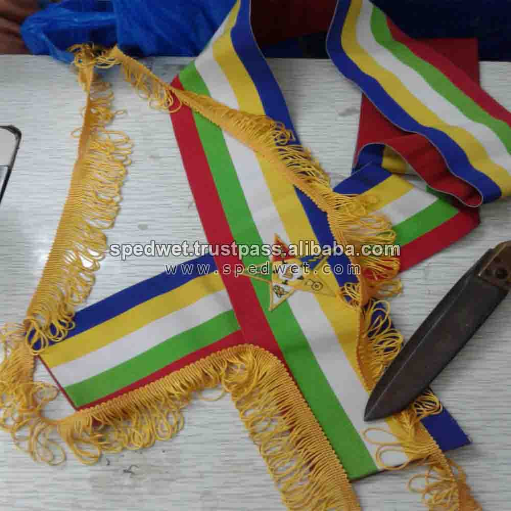Masonic OES sash order of the eastern star 5 color regular sash