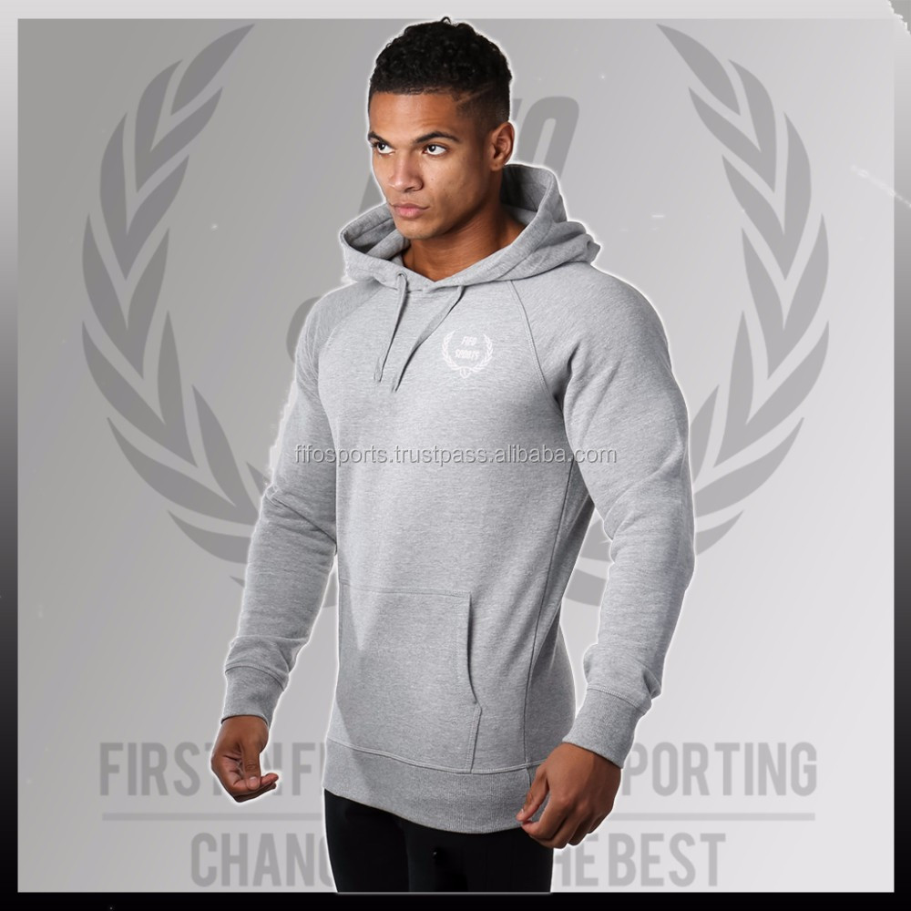 gym hoodie New Fashion Men's fitness Casual Hooded running Light Thin Sports shirt pollover