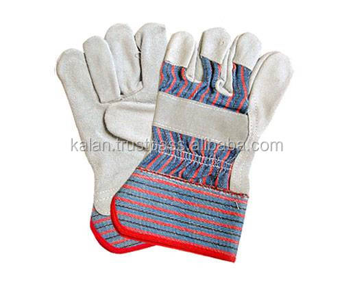 Great Pakistan Factory supply knitted cotton gloves, finger protection work gloves