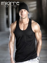 Miorre OEM Wholesale Men's Classic Black U Neck %100 Cotton Men Tank Top