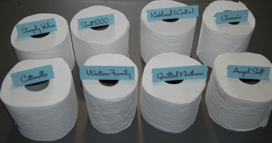 white and soft toilet tissue paper roll