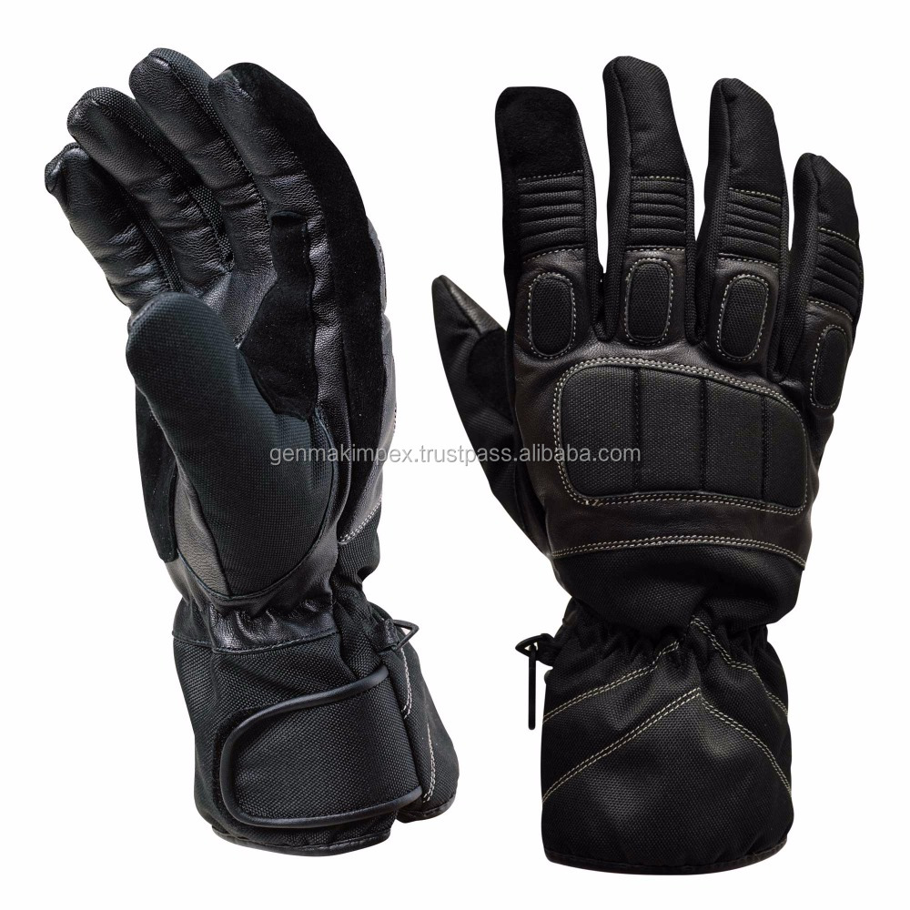 Winter Warm Motorbike Glove / Custom Motor Bike Glove For Racing