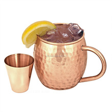 100% Pure Copper Beer Mug with Copper Shot Glass, Hammered Copper Mugs,copper mugs wholesale Moscow Mule Copper Beer Mugs